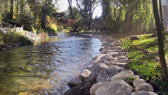 Creek Landscaping Retaining Walls